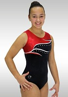 Leotard without sleeves smooth velvet V754
