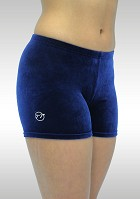 Legging short blue smooth velvet K756ma
